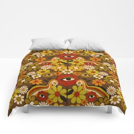 Flower Third Eye Comforters