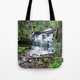 Wagner Falls, Munising, Michigan Tote Bag