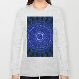 Dark blue mandala Long Sleeve T-shirt