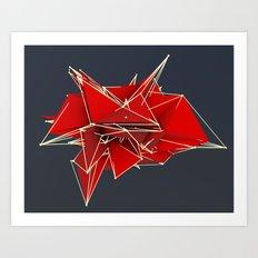 abstract polygons v2 Art Print