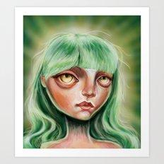 My Little Greenie Art Print
