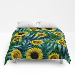 Sunflower Party #2 Comforters