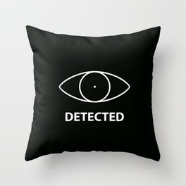 Detected - Skyirm Throw Pillow