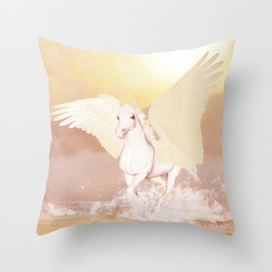 HORSE - Pegasus Throw Pillow