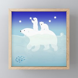 polar bears Framed Mini Art Print