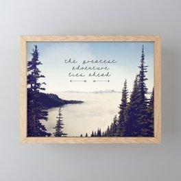 the greatest adventure- mountains Framed Mini Art Print