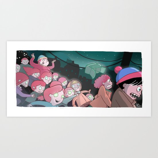 Night of the Living Gingers Art Print
