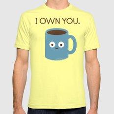 Coffee Talk Mens Fitted Tee LARGE Lemon