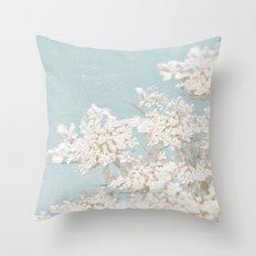 Pale Aqua: Dreaming of Spring Throw Pillow