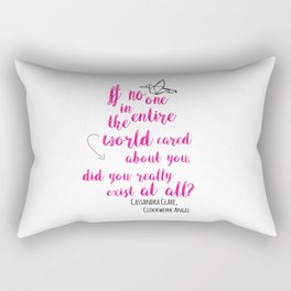 Do you exist at all? | Infernal Devices Rectangular Pillow