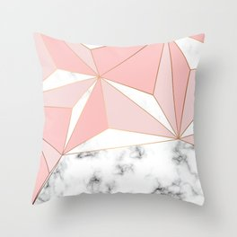 Marble & Geometry 042 Throw Pillow