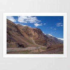Scenery in Spiti Valley Art Print