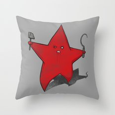 Zombie Star Throw Pillow