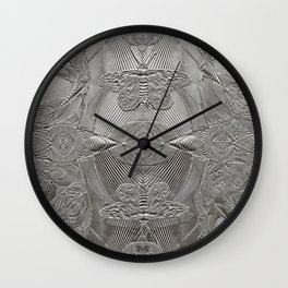 Silver Beauty Wall Clock
