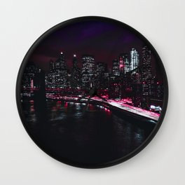 Red New York City Wall Clock