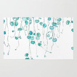 string of hearts watercolor Rug