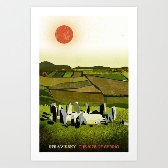 The Rite of Spring - Stravinsky Art Print