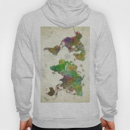 World Map Color Hoody