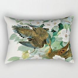 Carolina Turtle Dove, Birds of America by John James Audubon Rectangular Pillow