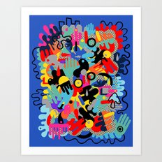 Color blobs 002 Art Print