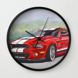 Red Cobra Wall Clock