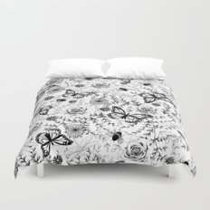 Butterflies And Bees Duvet Cover