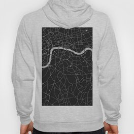 London Black on Gray Street Map Hoody