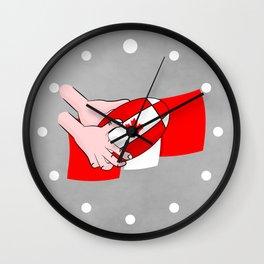 Canada Rugby Flag Wall Clock
