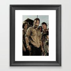 The Walking Dead - The Crew Framed Art Print