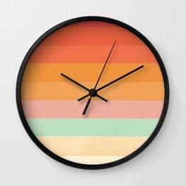 Rainbow Chevrons II Wall Clock