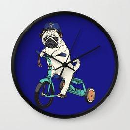 Royals Pug Wall Clock