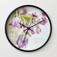 love tulips Wall Clock