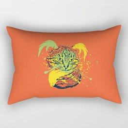 Abstract grunge cat Rectangular Pillow