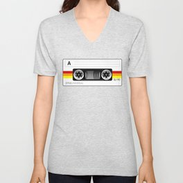 Retro audio cassette tape Unisex V-Neck
