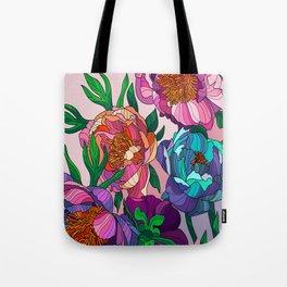Floral Lines 1 Tote Bag