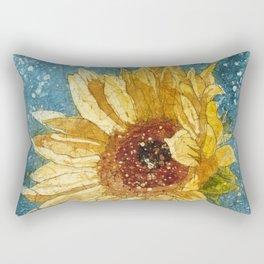 Sunflower Painting, Watercolor Sunflower, Sunflower Art,Sunflower Wall Art Rectangular Pillow