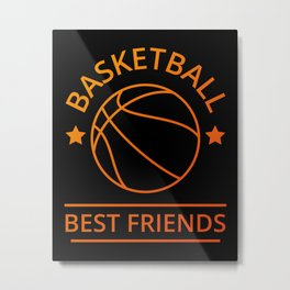 Basketball Best Friends II Metal Print