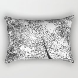 overhead, black and white Rectangular Pillow