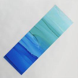 Alcohol Ink Seascape Yoga Mat