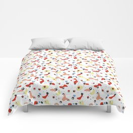 Polyhedral Dice- Pop Modern Comforters