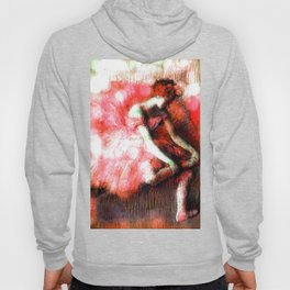 The Dancer by Edgar Degas Coral Red Hoody