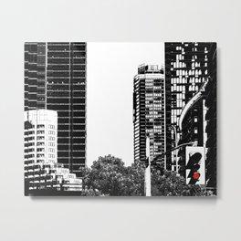 Red Traffic Light Metal Print