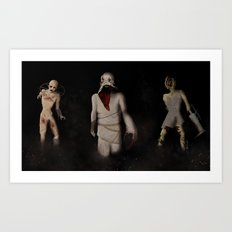 Terrifying Trio Art Print