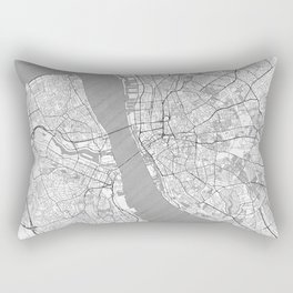 Liverpool Map Line Rectangular Pillow