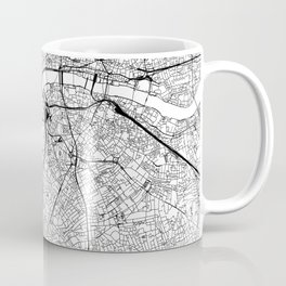 London White Map Coffee Mug