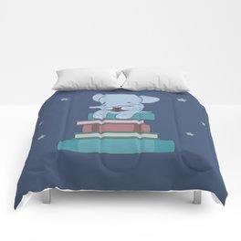 Kawaii Elephant Reading Books Comforters