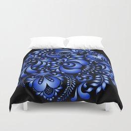Gzhel black pattern Duvet Cover