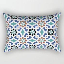 Geometric Pattern - Oriental Design Pt. 7x - seamless design ,blue, green Rectangular Pillow