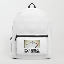 """""""Not Great Not Terrible"""" Chernobyl quote Backpack"""