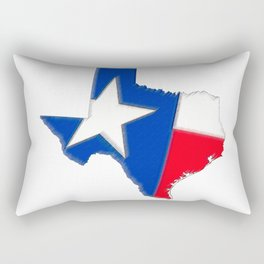 Texas Map with State Flag Rectangular Pillow